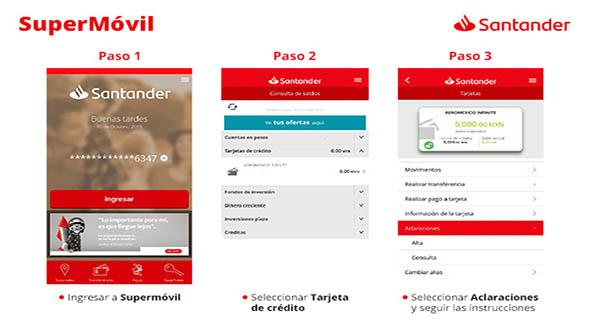La app de Santander te permite consultar saldos y movimientos de tu cuenta